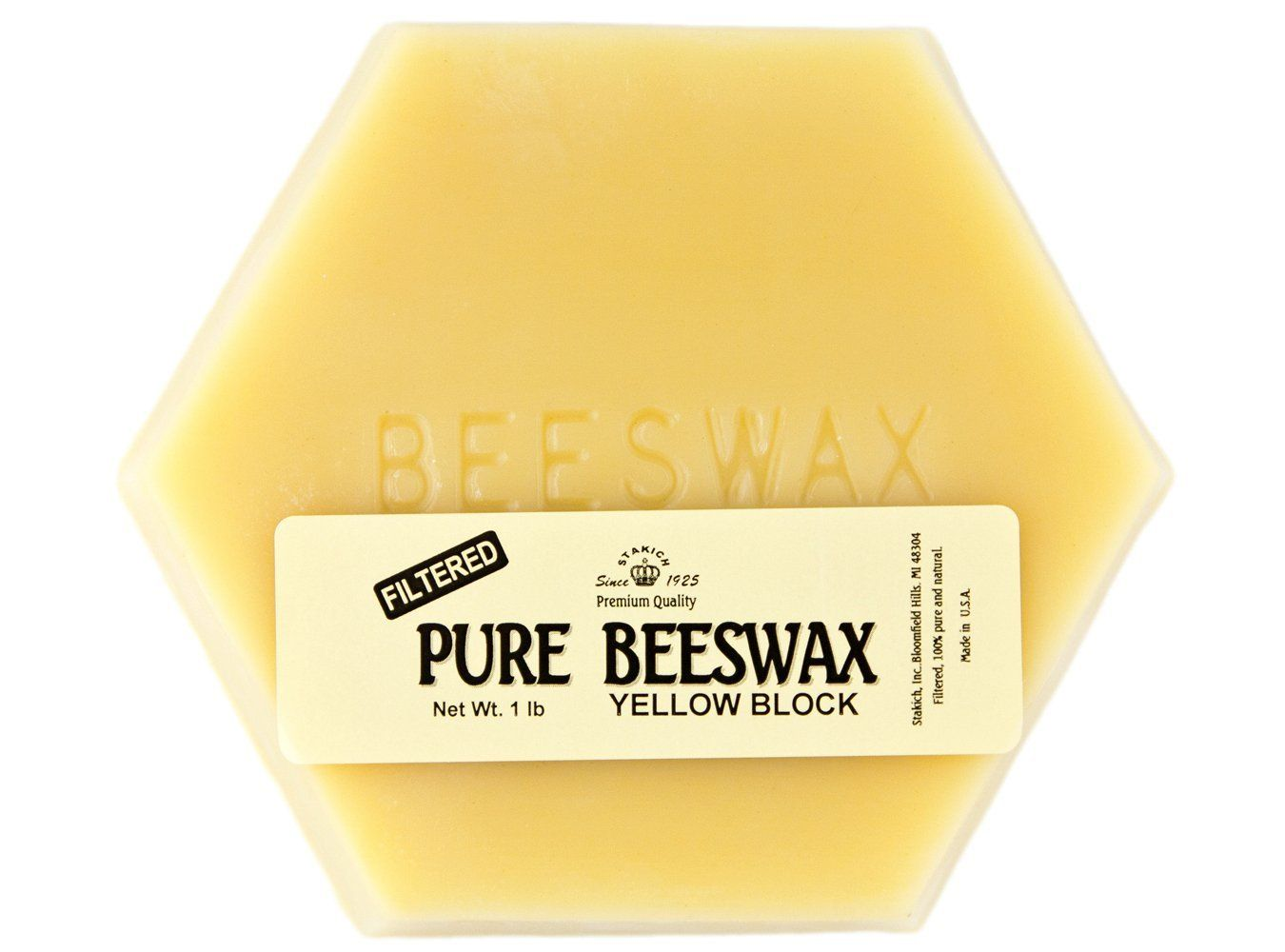 100/% pure and natural beeswax 2 Pure Beeswax blocks For Making Candles