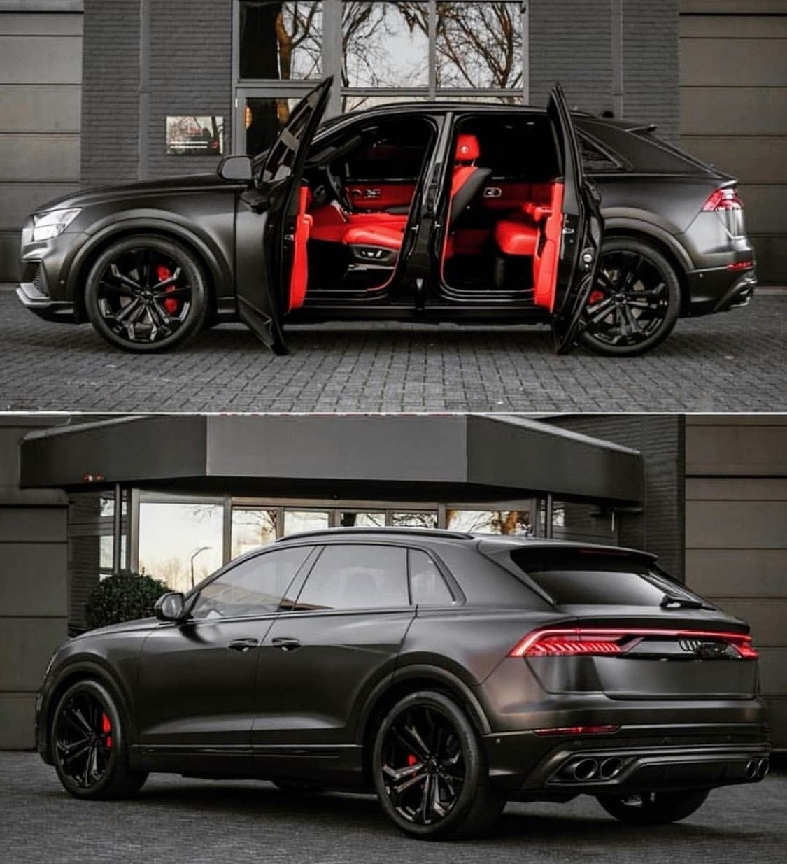 Audi Q8 Black Red You Re Invited Audi Cars Super Luxury Cars Black Audi