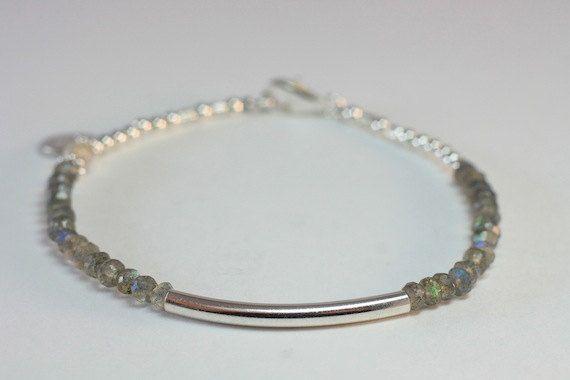 BALI LOVE  Labradorite // Sterling Silver and by VioletGrayDesign, $49.95