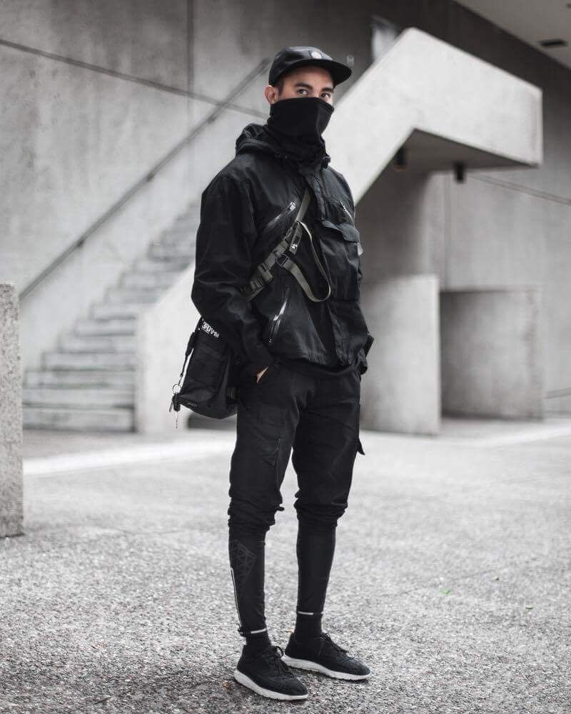 alternative men s fashion   urban dystopia   street wear   cyberpunk Streetwear  Fashion 84238dd710ba