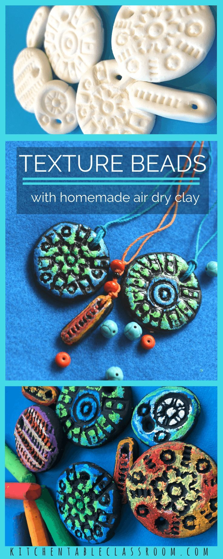 textured clay pendant with homemade air dry clay clay recipe air