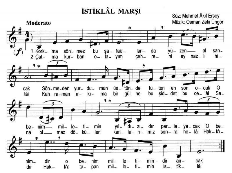Türkische Nationalhymne