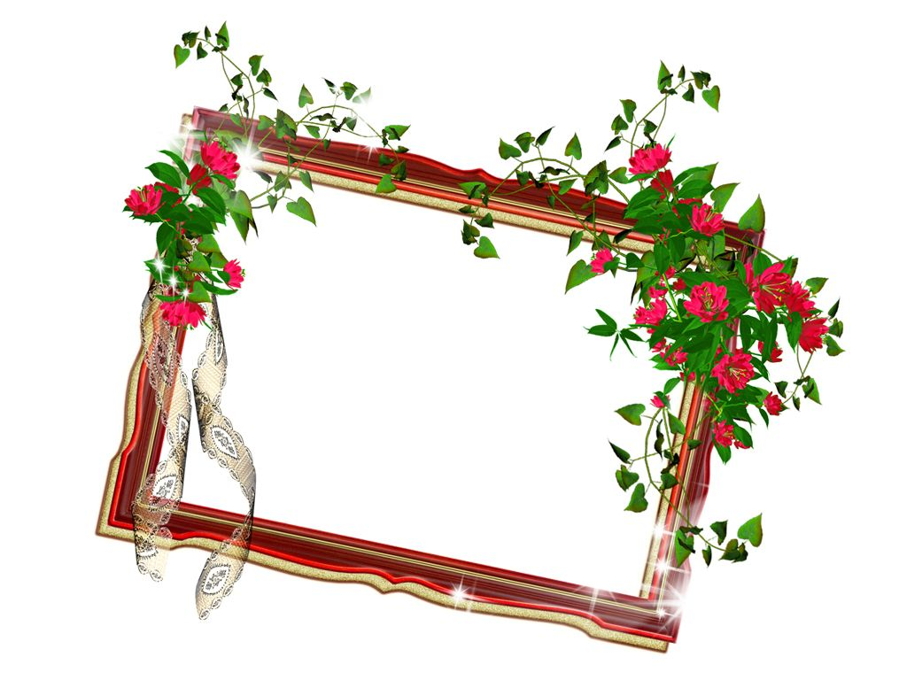 Floral Photo Frame Template | davied | Frame template ...