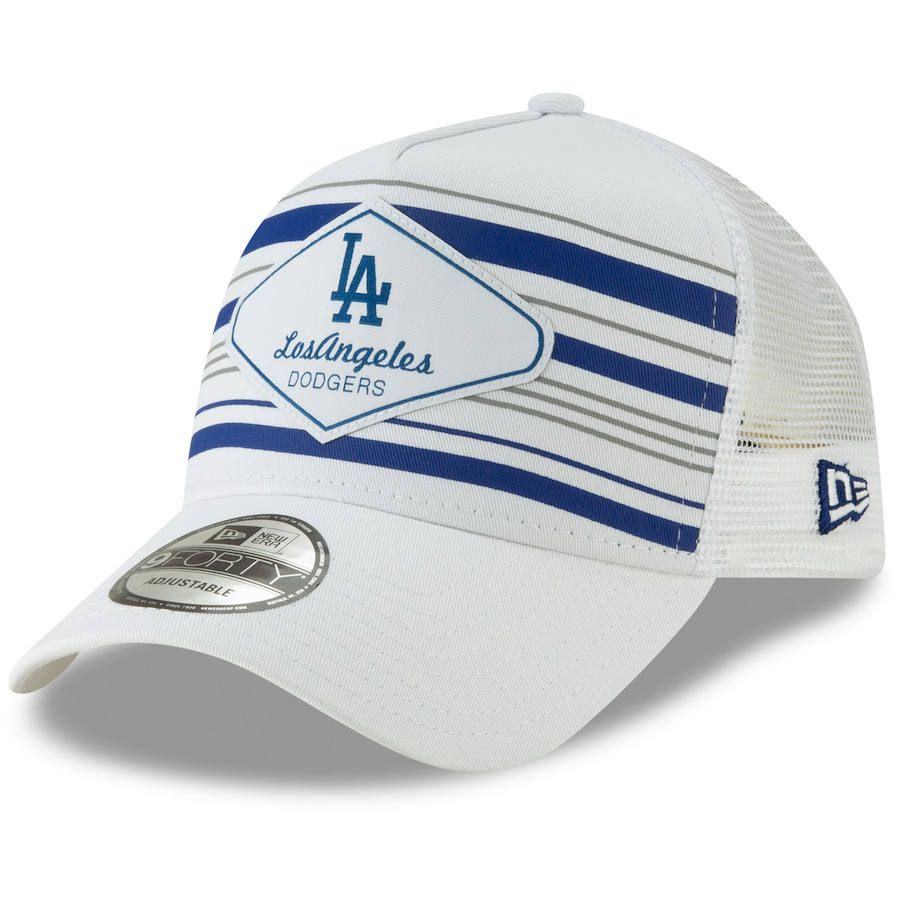 online store 8a433 c3314 Men s Los Angeles Dodgers New Era White Coastline A-Frame 9FORTY Trucker Hat,  Your Price   23.99