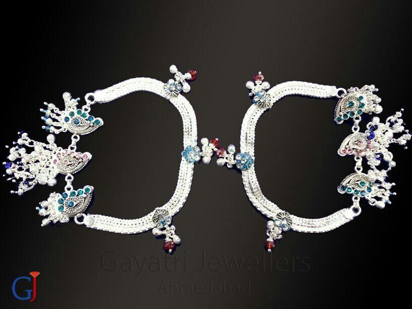 anklets #Silver #traditional#jewellery#payal#gj #payjeb#wedding ...