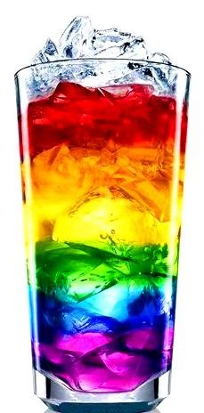 Rainbow color beverage