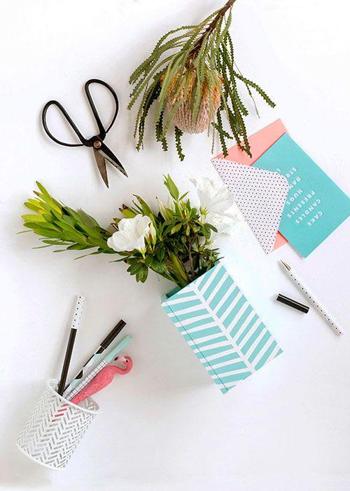 Faça você mesmo um lindo vaso de flor personalizado