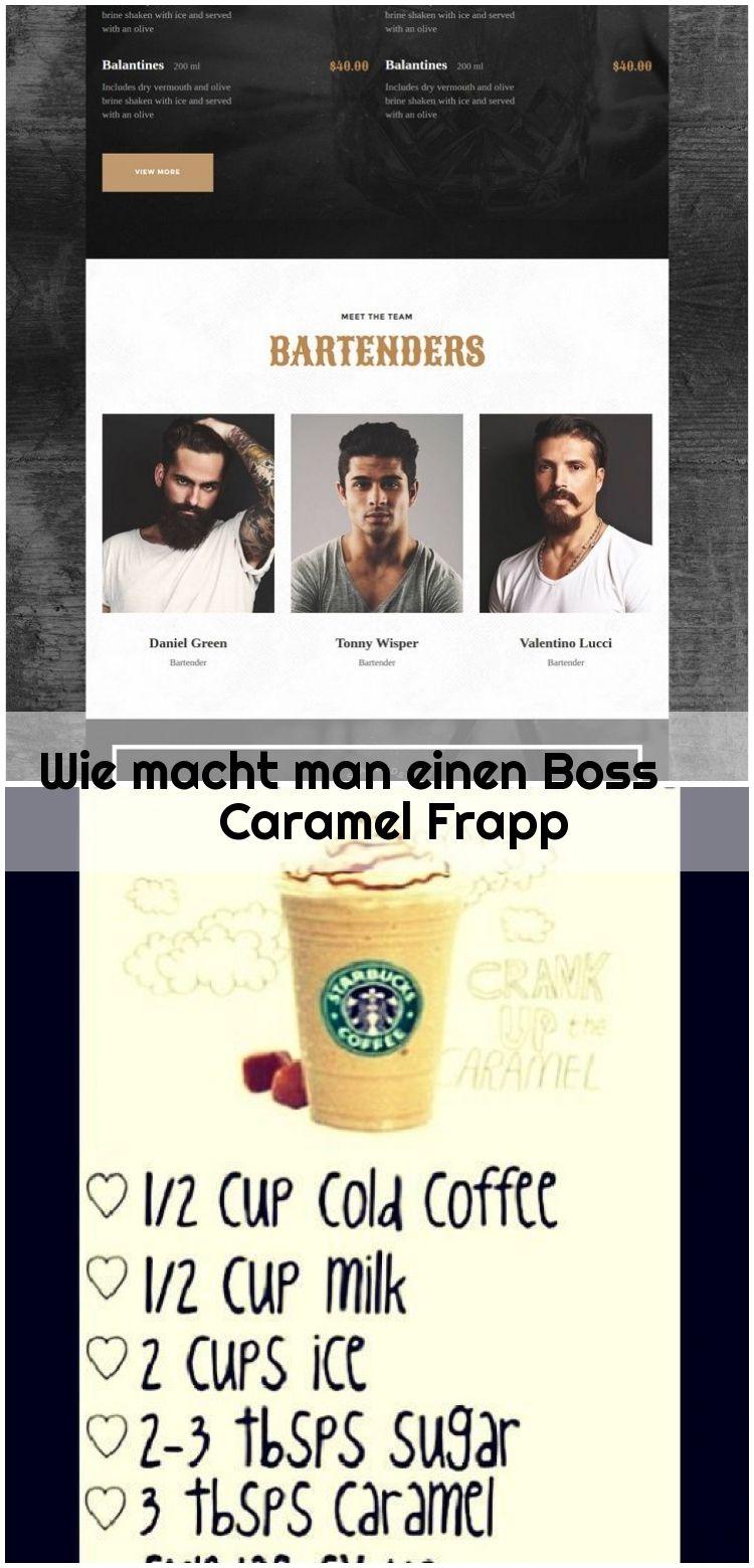 Wie macht man einen Boss Caramel Frapp, #Boss #Caramel # ...