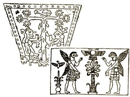 11h - Mayan artefact vrs. a Mesopotamian artefact of the alien gods with the Tree of Life