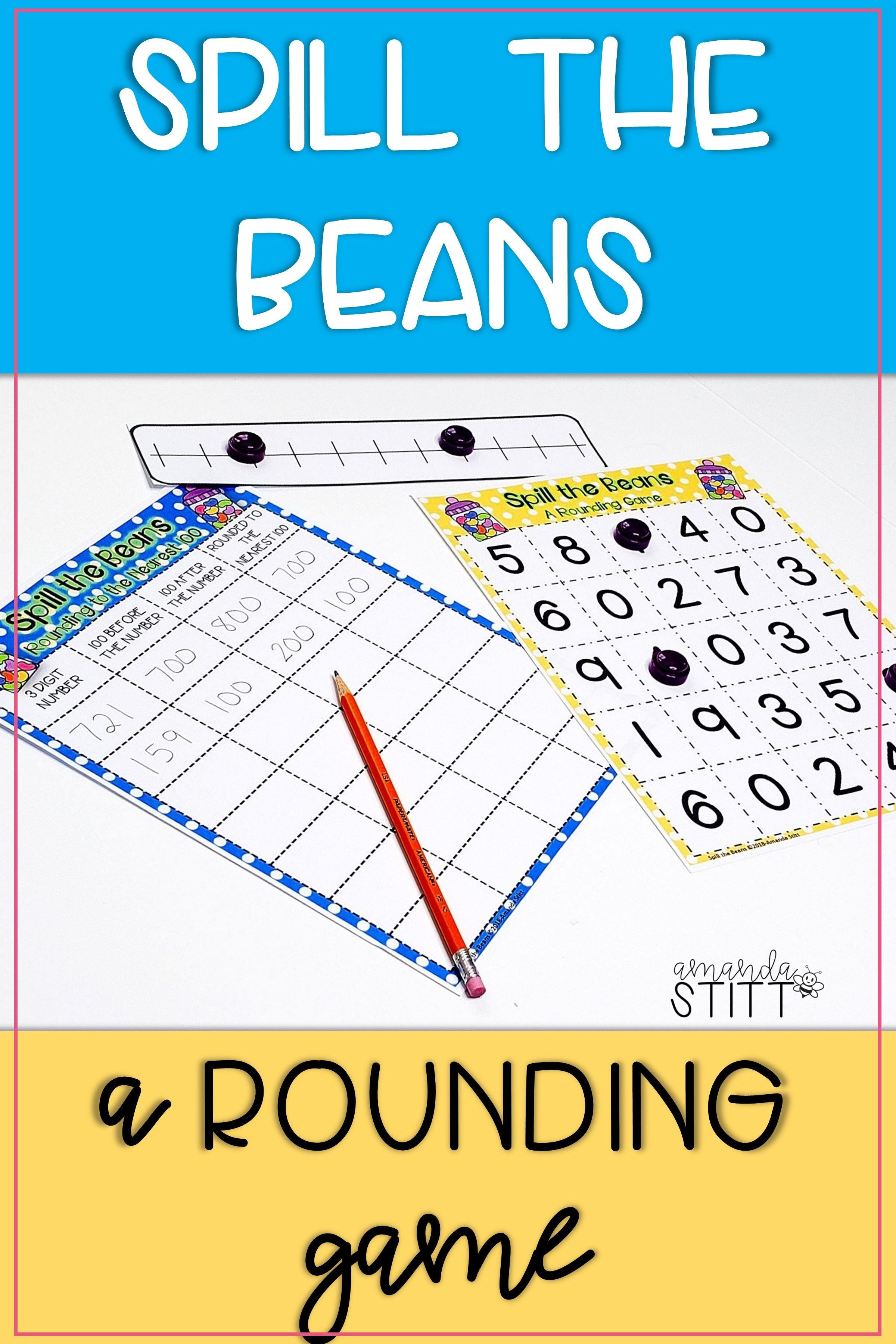 Rounding Numbers Game For Math