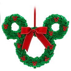 Mickey Mouse Icon Plush Holiday Wreath