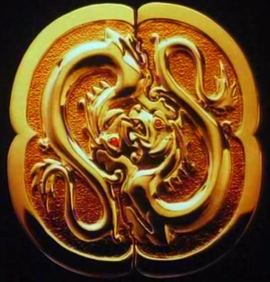 Double Dragon Medallion Double Dragon Medallion Pop Culture Art