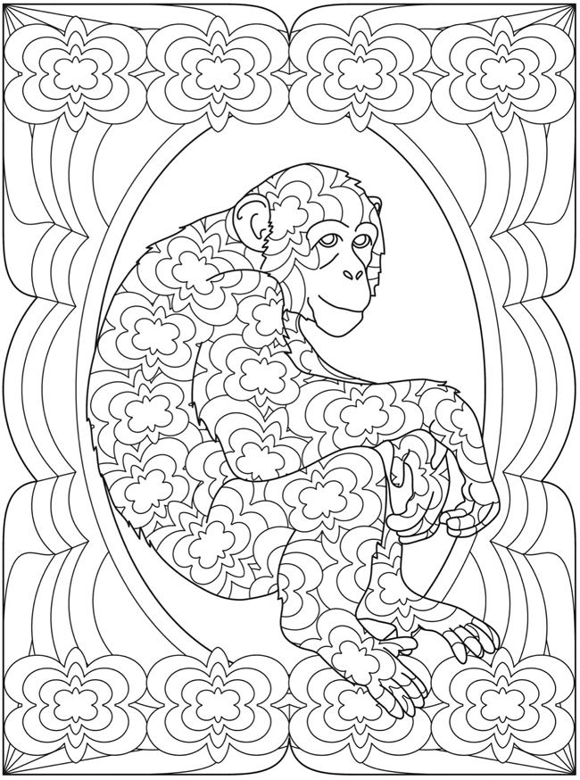 Monkey Coloring Page Monkey Coloring Pages Animal Coloring Pages Coloring Pages