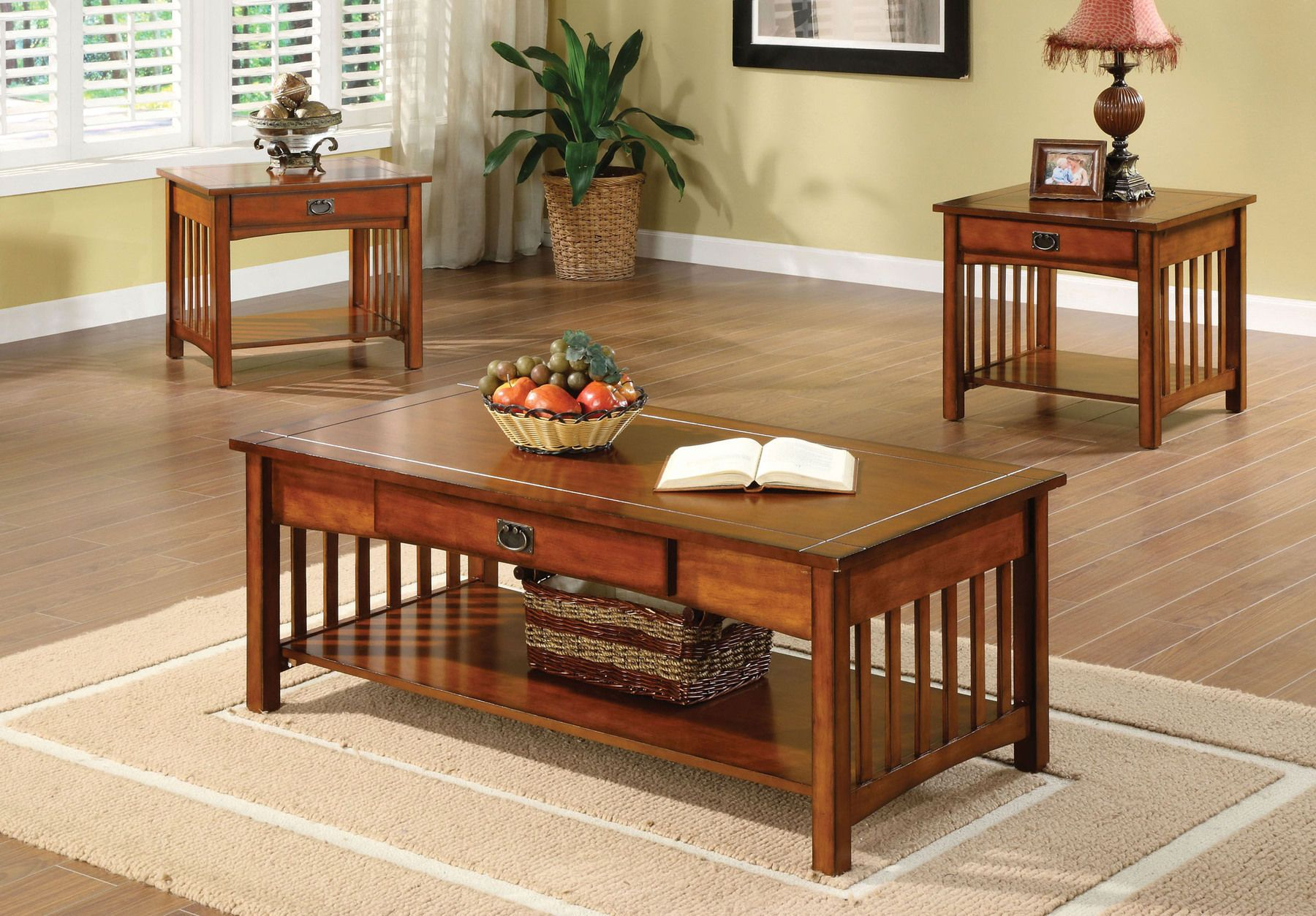 Seville Coffee Table 2 End Tables Cm4245 3pk Furniture Of America Coffee Tables In 2021 Living Room Table Sets Mission Style Living Room Mission Style Furniture [ 1253 x 1800 Pixel ]