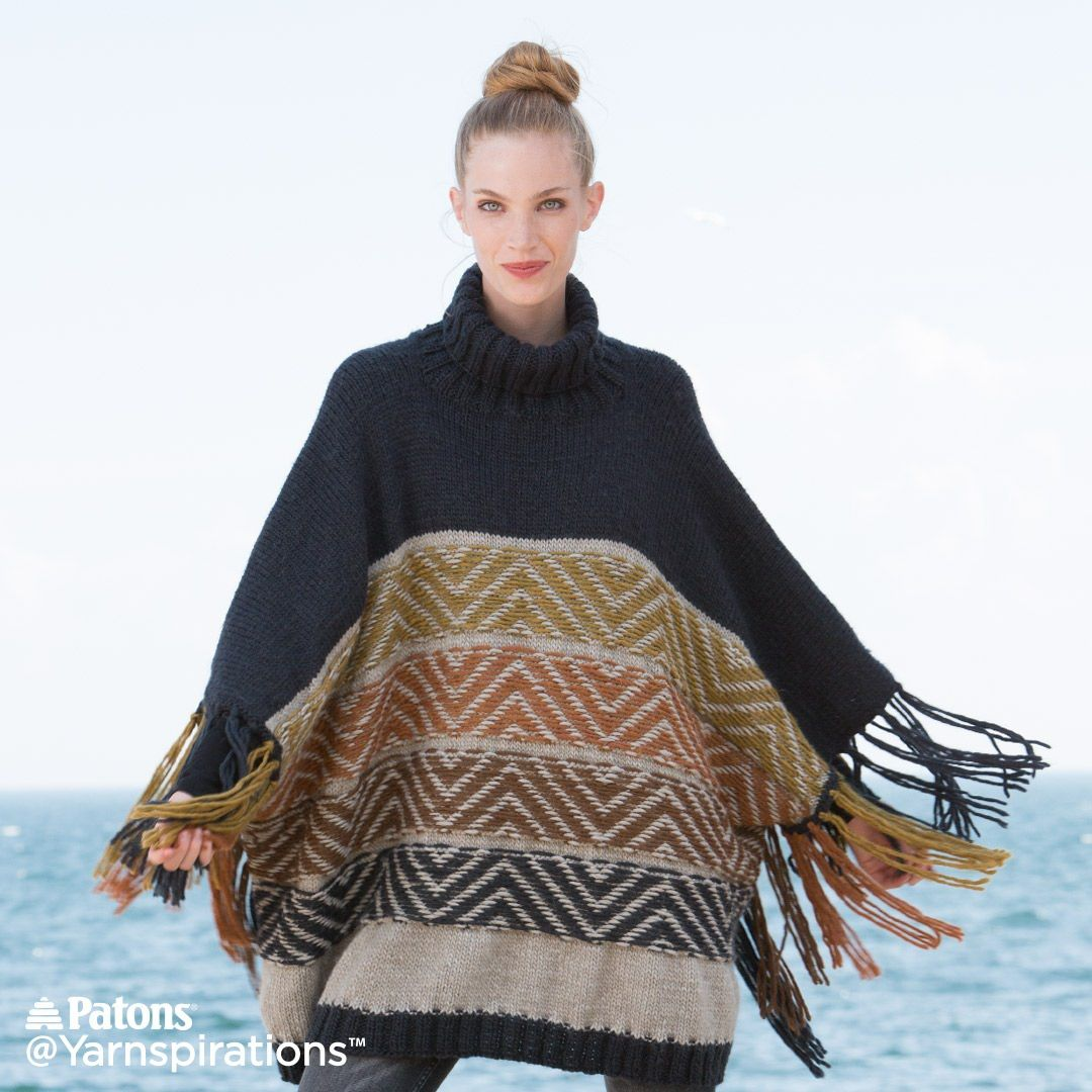 Patons WRAP IT UP ponchos and shawls to knit pattern book