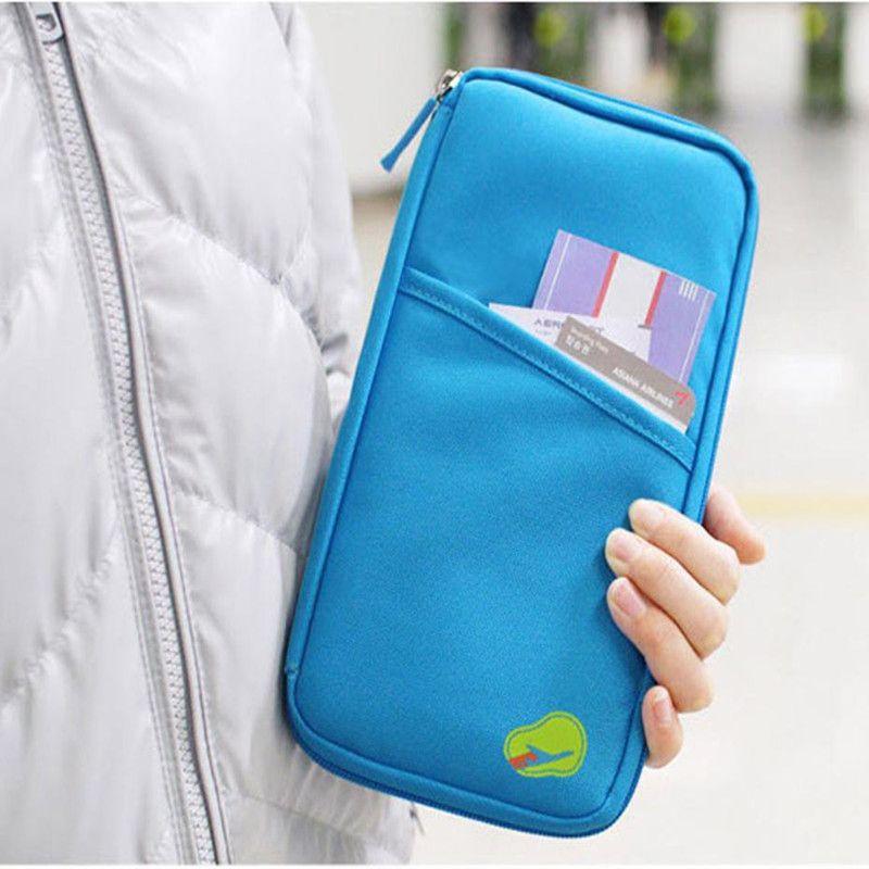 dd2da0ecedd Brand Woman Travel wallet Journey Document Organizer Wallet Passport ID  Card Holder Wallets Ticket Credit Card
