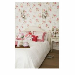 Room Seven Wallpaper Poppies White