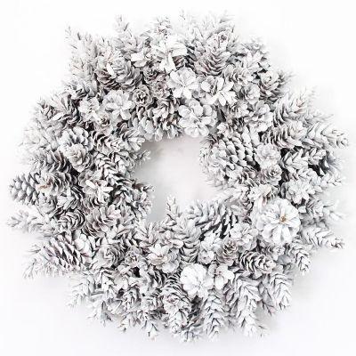 Photo of White pine cone wreath
