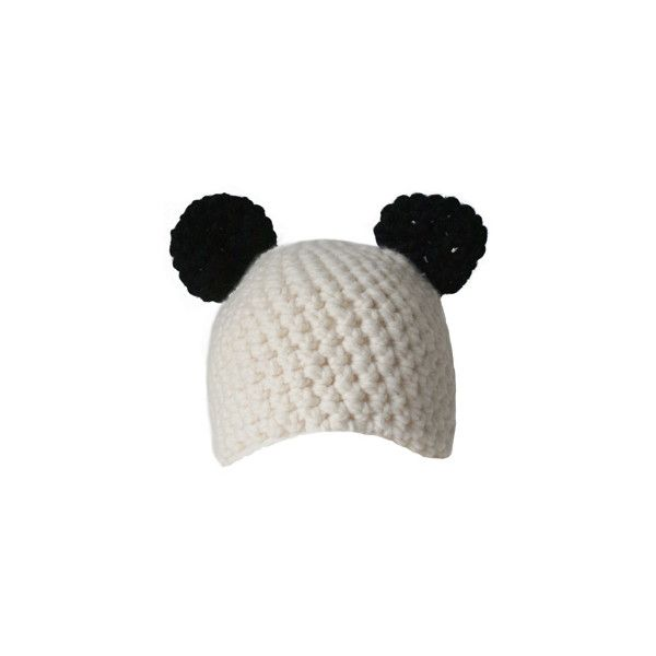 Panda Hat ($35) ❤ liked on Polyvore featuring accessories, hats ...