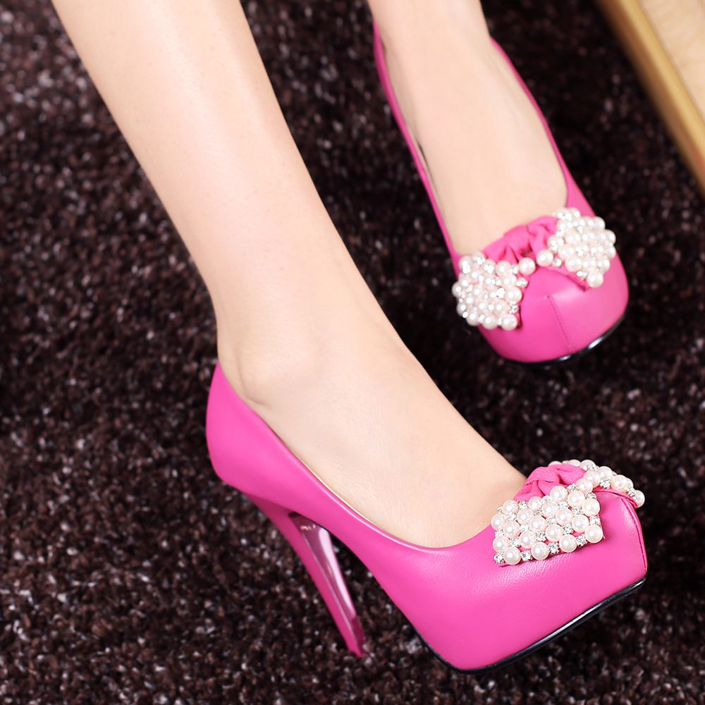 awesome Beautiful Platform Heels With Peal Click to see this Great ...