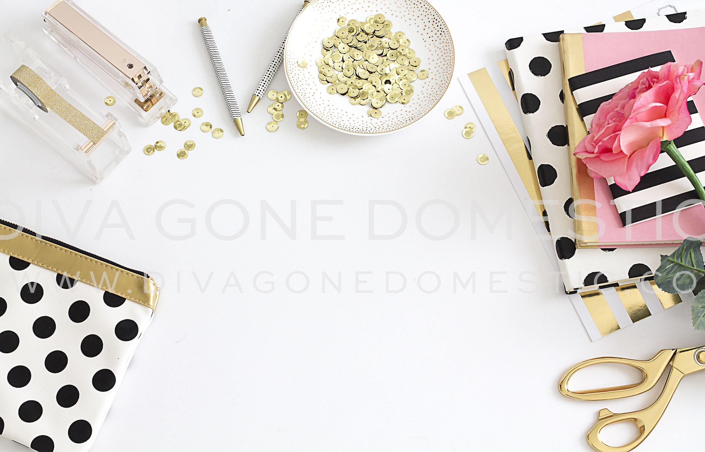 office desk tops. styled desk top chic modern office by divagonedomestic on creative market tops