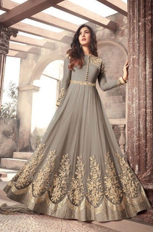 6de1543de8ee7 Anarkali Latest Indian Bollywood Wedding Party Wear Long Gown Embroidery  Dresses  maisha  anarkali  desi  silk  sari  mumbai  crepescottons   boutique ...