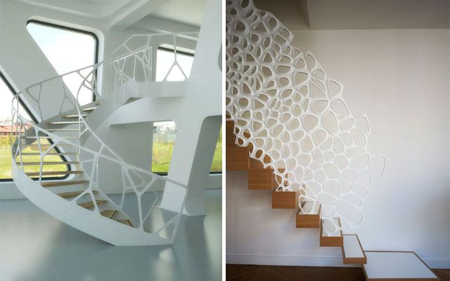 Ideas para decorar con barandillas y pasamanos org nicos - Barandales modernos para escaleras ...