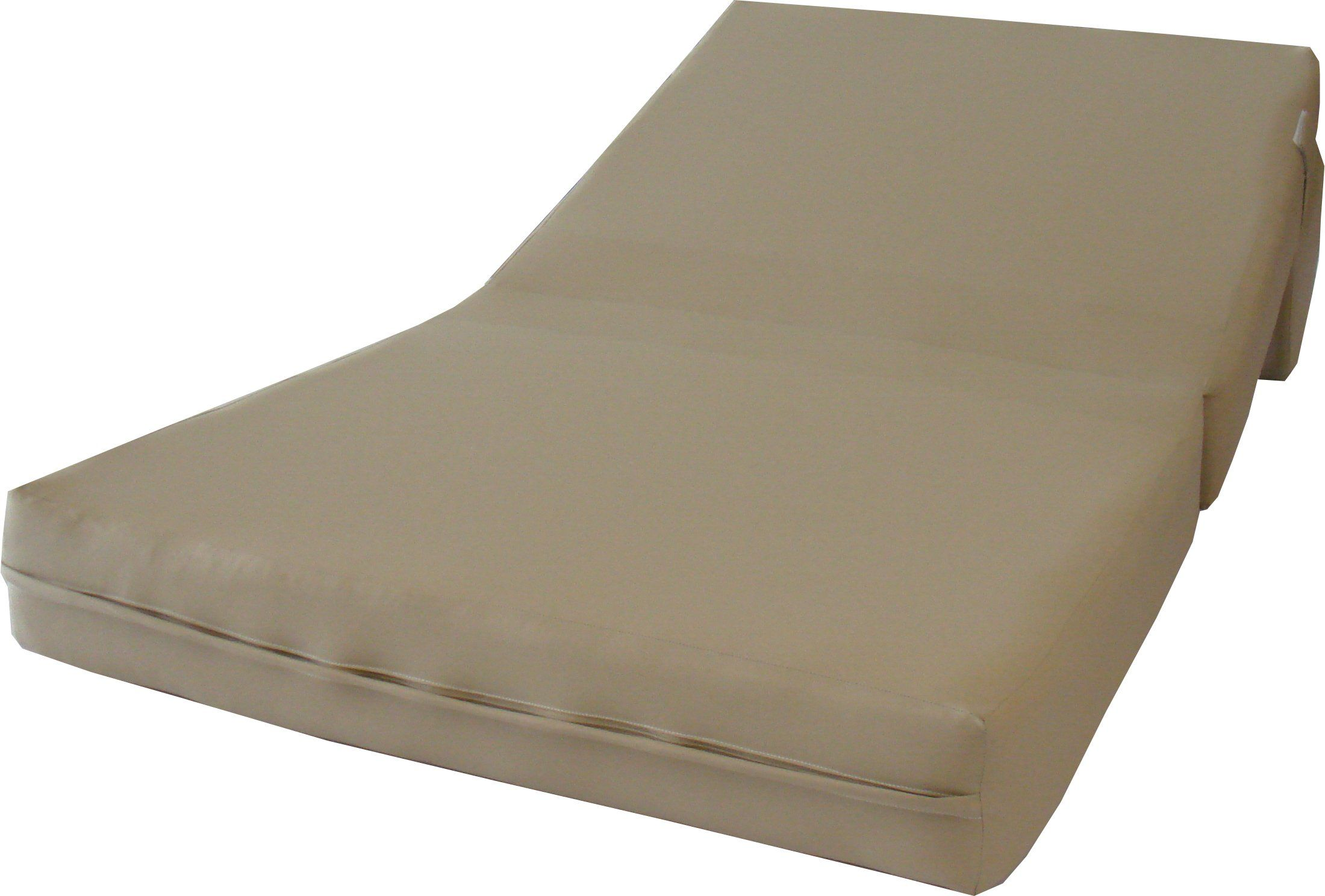 Sleeper Chair Folding Foam Bed 6 Thick X 36 Wide X 70 Long Twin Size Tan Sleeper Chair Folding