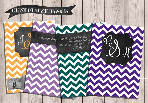 Custom Chevron & Chalkboard Double-Sided College by TownleyDesigns