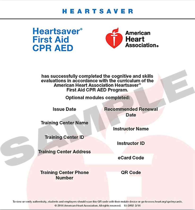 Https Www Attentivesafety Com Heartsaver First Aid Cpr Aed Card First Aid Cpr First Aid Cpr