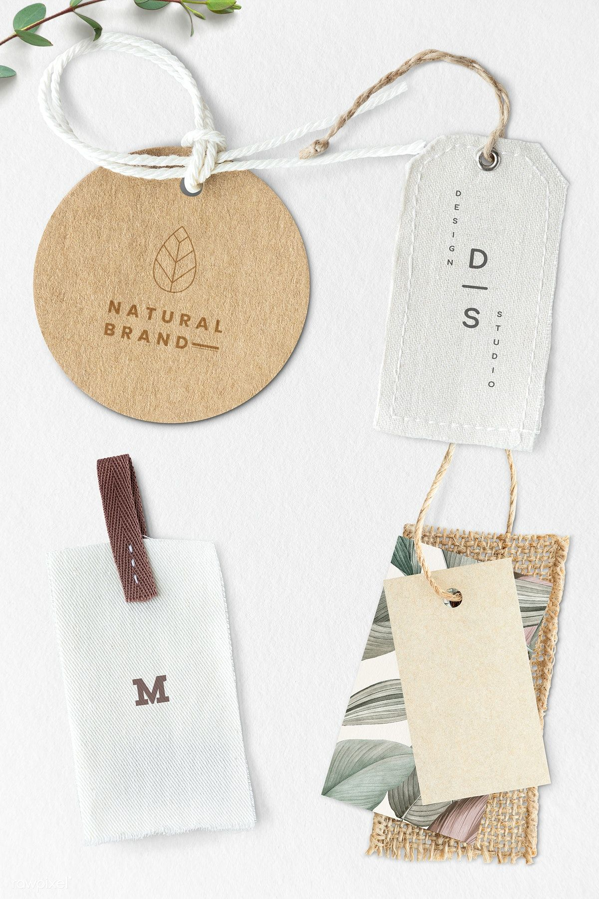 Download Download Premium Psd Of Blank Fashion Brand Label Mockup 1202092 In 2020 Brand Guidelines Design Organic Branding Clothing Packaging