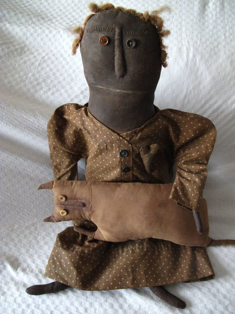norma schneeman collectors a rare netty lacroix folk art doll and cat