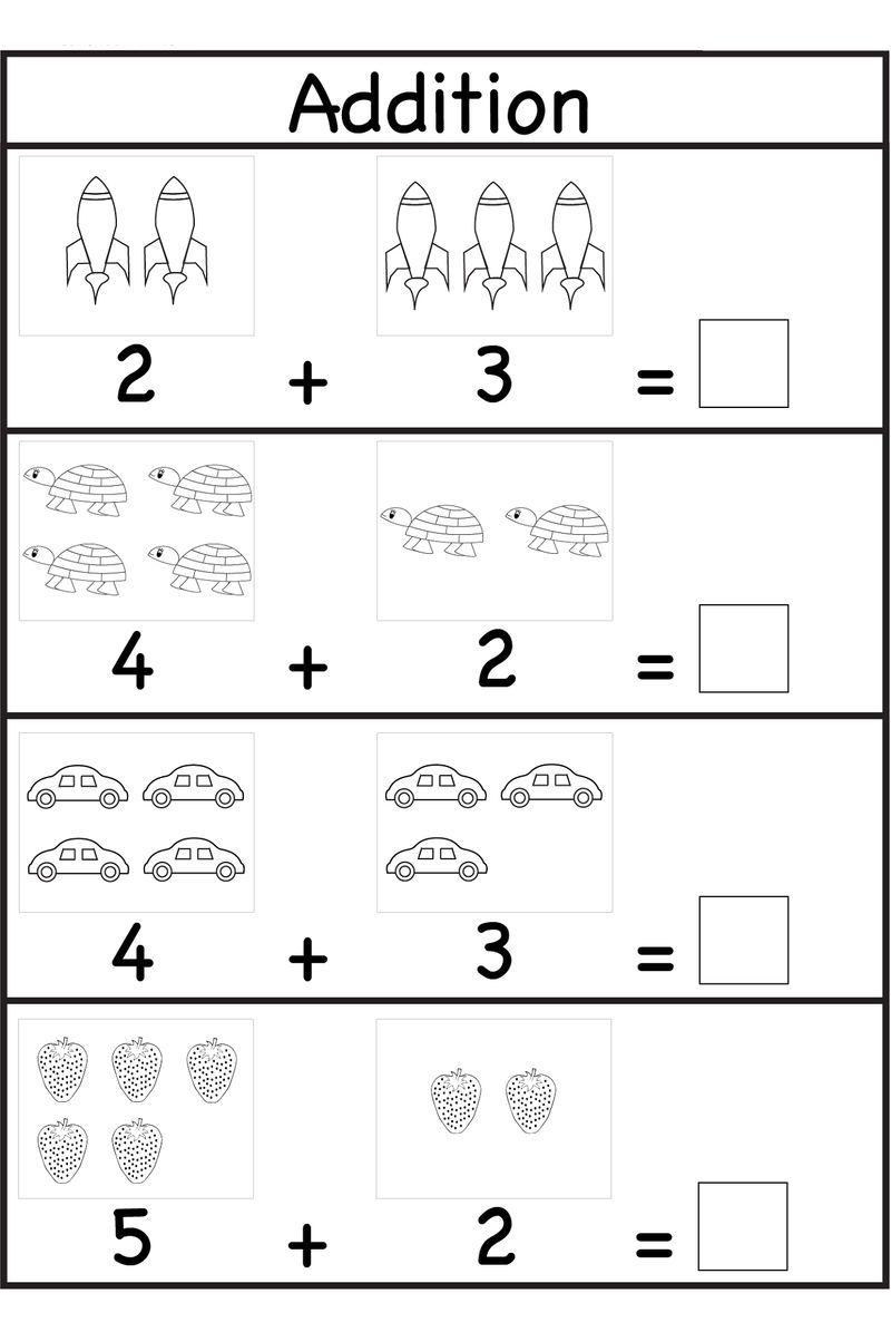 Pre K Worksheets Numbers Printable Dengan Gambar Belajar