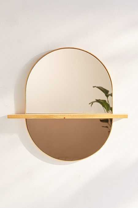 Ivette Rounded Mirror Shelf Mi Casa In 2019 Mirror