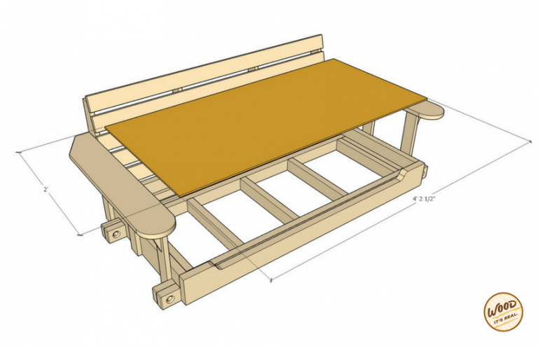 Build a Smaller Porch Bed Swing: Plans and Video How-To ...