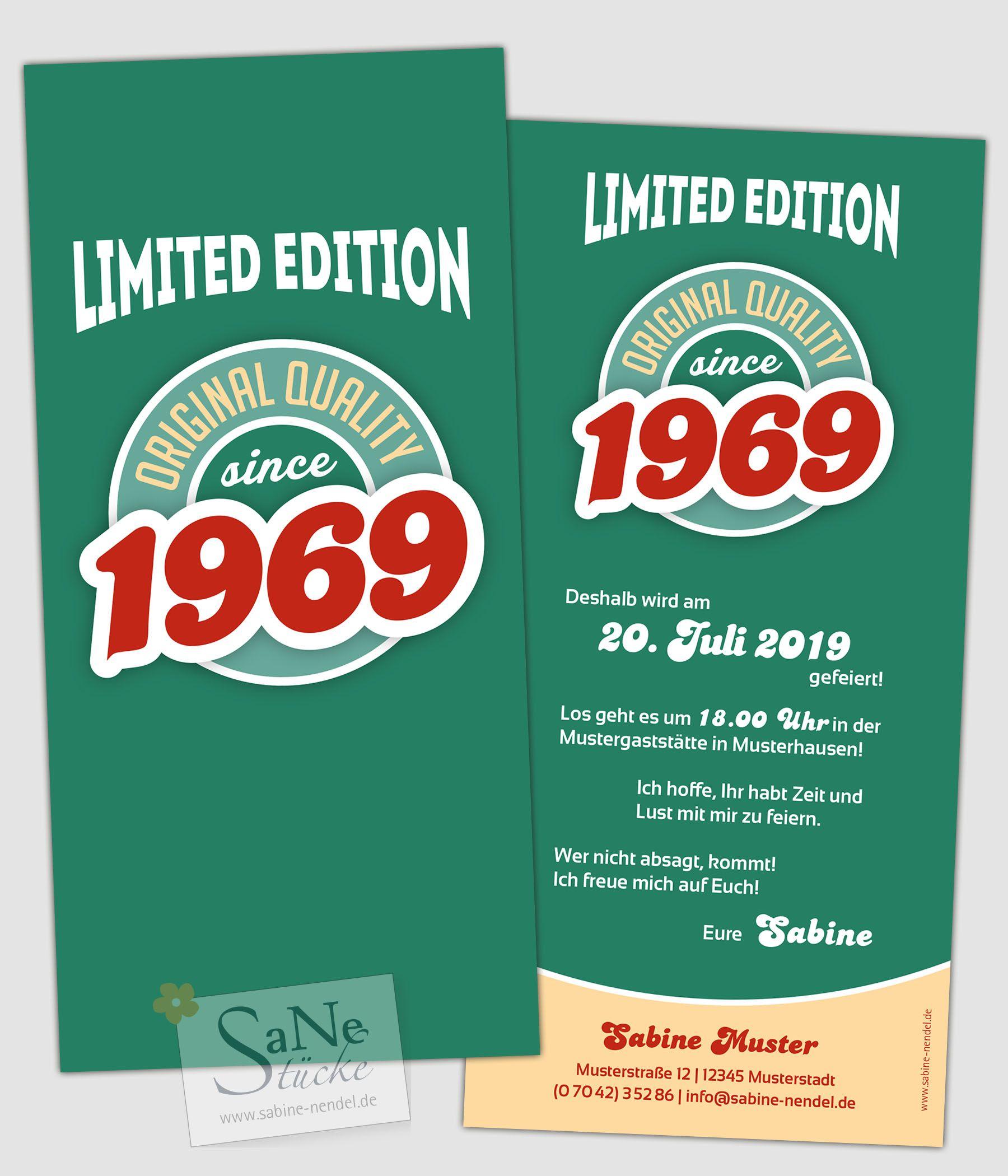 Vintage Jahrgang Einladungskarten Zum 50 1 Geburtstag Madchen