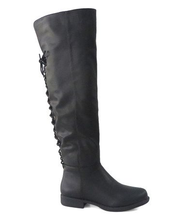 Look what I found on #zulily! Black Montana Lace-Up Boot #zulilyfinds