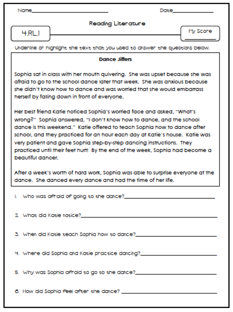 Educationjourney Fourth Grade Language Arts Assessments Seasons
