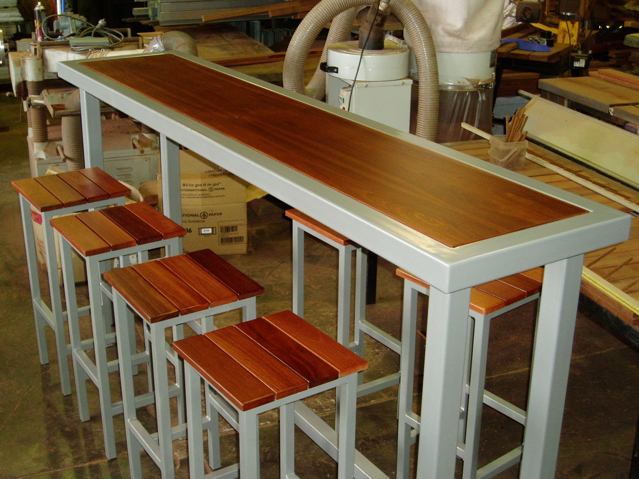 Narrow Pub Tables With Stools | Narrow, Tall Style Of Bar, Timbers Joined To