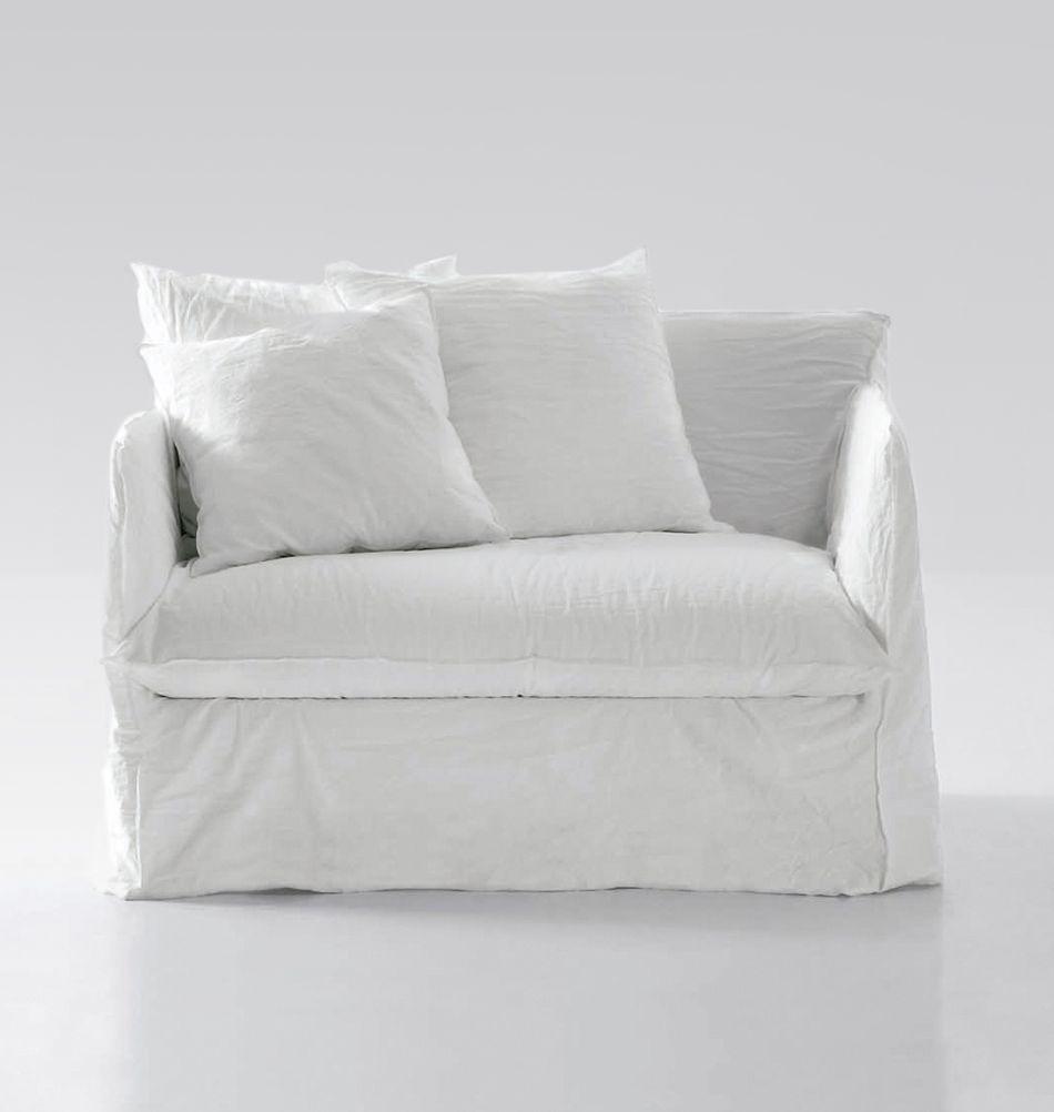 Gervasoni Ausziehbarer Sessel Ghost 11 Weiss Schlafsessel Sessel Moderne Esszimmerstuhle