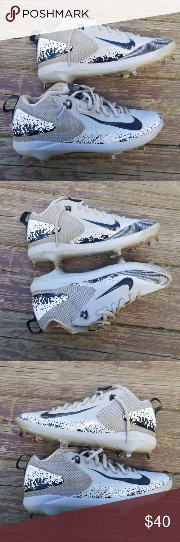 Mike Trout⚾️Baseball Cleats⚾️Size 8 Nice pair of