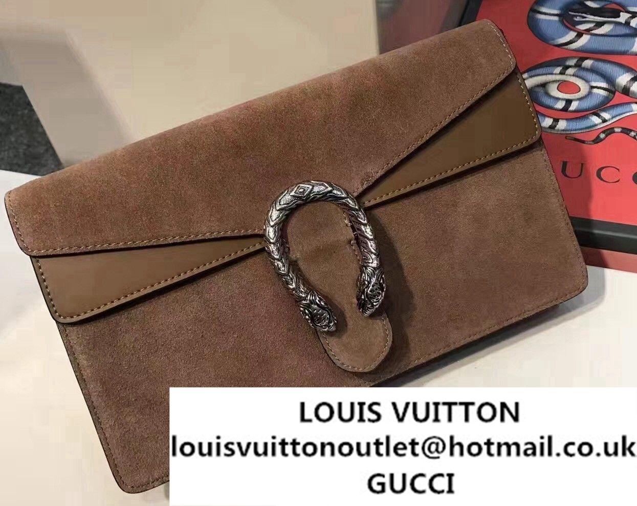 45ed7ce911e Gucci Dionysus Suede Clutch Pouch Bag Camel 2017