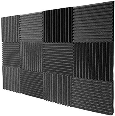 Amazon Com Mybecca 12 Pack Acoustic Foam Wedge Soundproofing Wall Tiles 12 X 12 X 1 Charcoal Musical I In 2020 Soundproofing Walls Sound Proofing Acoustic Panels