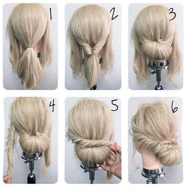 Lovely Cute Simple Updo For Medium Length Hair New Hair Models In 2020 Hair Lengths Hair Styles Simple Wedding Hairstyles