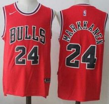 6c9605fb7 Nike Chicago Bulls  24 Lauri Markkanen Red Road Stitched NBA Jersey ...