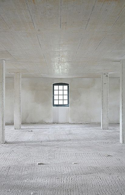 Raw, White and Austere.  Sometimes the best interiors are the simple spaces.  #interior #concrete #interiors