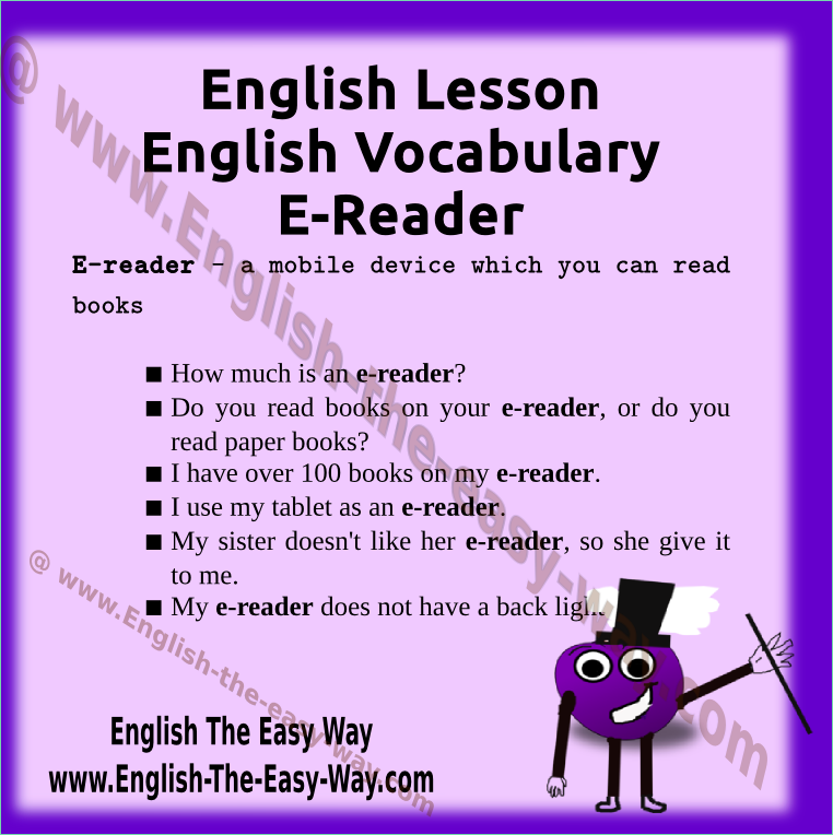 Learn new English words.