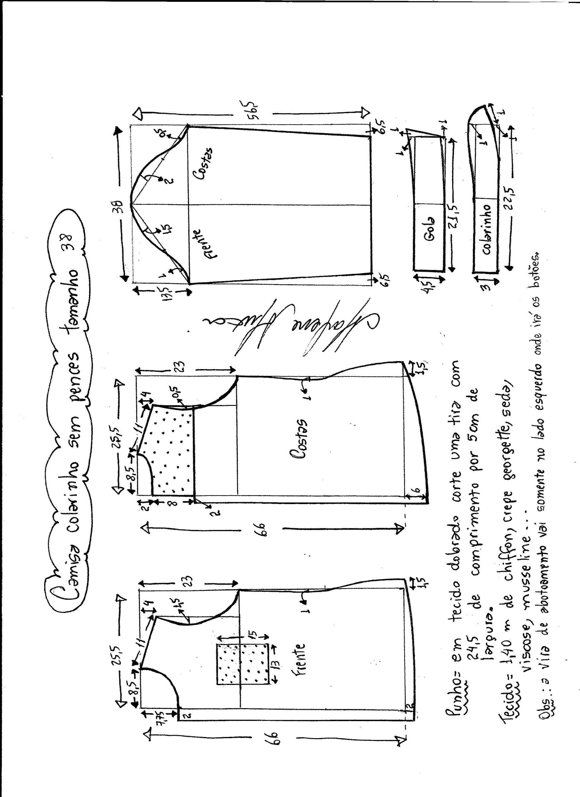 Patrón de camisa para mujer | moldes ropa | Pinterest | Sewing ...