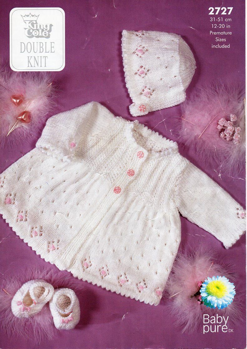 83f60b3f7 baby knitting pattern pdf baby matinee jacket bonnet and slippers ...
