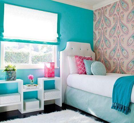 Dco chambre ado murs en couleurs fraches en 34 ides Pinterest